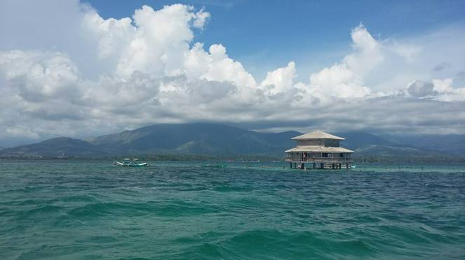 Floating house at Bacala Resort